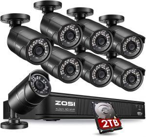 ZOSI 1080p PoE Home Security Camera System Outdoor Indoor